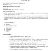 """Integruota matematikos ir lietuvių kalbos pamoka """"Matematinė knyga. Trikampiai"""" PLANAS.pdf"""